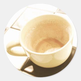 Café soñado etiquetas redondas