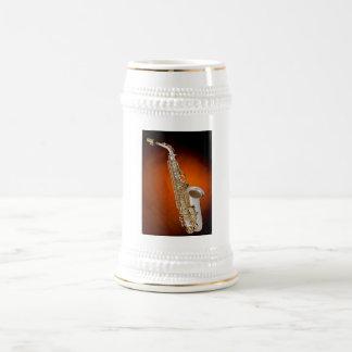 Café Stein del saxofón, taza, o taza
