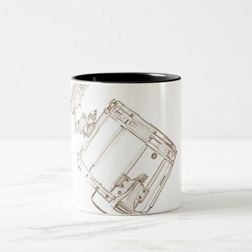 Café Stein del tambor que marcha o taza