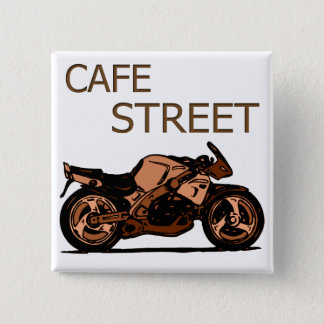 Cafe Street Pinback Button