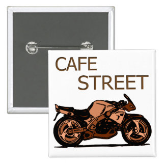 Cafe Street Pinback Button