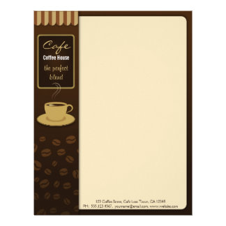 Cafe Stylish Coffee Shop Cup Business Letterhead