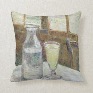 Café table with absinth American MoJo Pillow