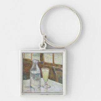 Café table with absinth Keychain