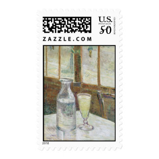 Café table with absinth Postage