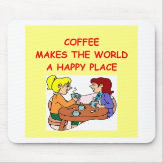 café tapetes de ratones