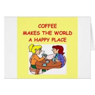 café tarjeta
