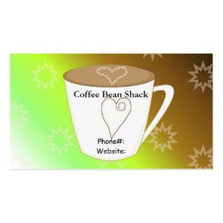 Café Plantilla De Tarjeta De Negocio