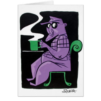 café tarjeta de felicitación