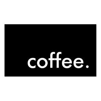 café. tarjeta de sacador de la lealtad tarjetas de visita