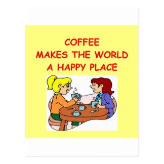 café postales