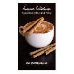 café tarjetas de negocios