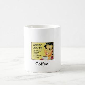 ¡Café! Taza Básica Blanca