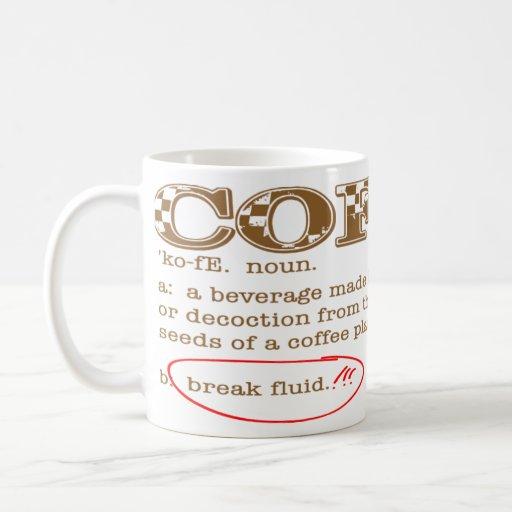 Café - taza blanca clásica