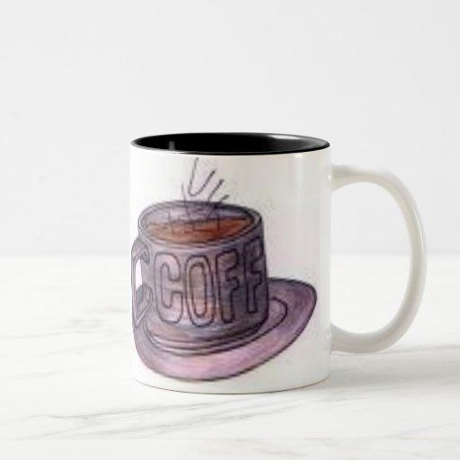café taza de dos tonos