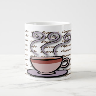 Café - tazas en colores pastel de la especialidad  taza grande
