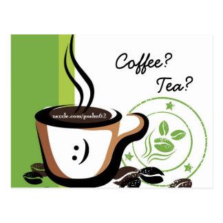 ¿Café? ¿Té? Postales