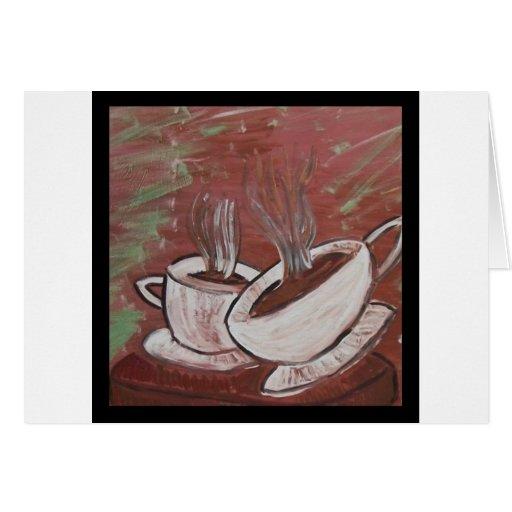 ¿café? ¿té? tarjeta