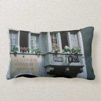 Cafe, Tea Room Vintage Steeped Retro Coffee Decor Lumbar Pillow