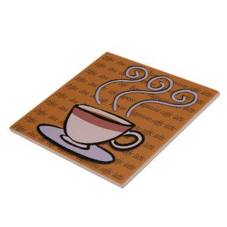 Café - teja en colores pastel/Trivet del diseño de