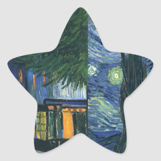 Cafe Terrace and Starry Night Star Sticker