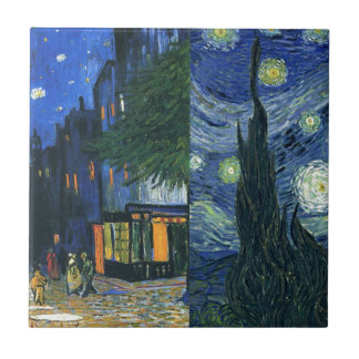Cafe Terrace and Starry Night Tile