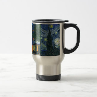 Cafe Terrace and Starry Night Travel Mug