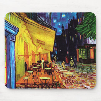 Cafe Terrace at Night (1888) Mousepad