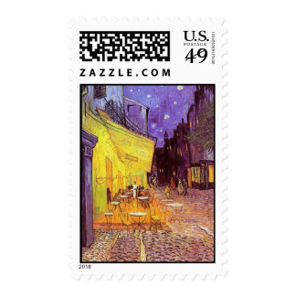 Cafe Terrace at Night 1888 Stamp