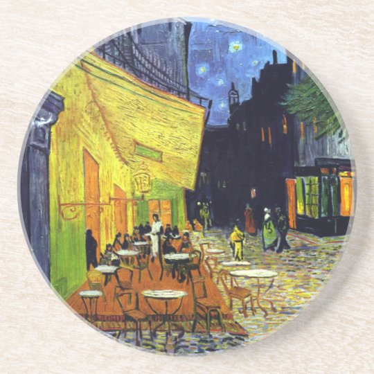 Cafe Terrace at Night by Van Gogh Drink Coaster