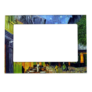 Cafe Terrace at Night by Van Gogh Magnetic Picture Frame