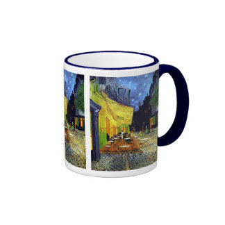 Cafe Terrace at Night by Van Gogh Ringer Coffee Mug