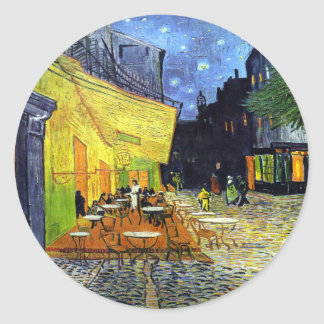 Cafe Terrace at Night by Vincent van Gogh 1888 Classic Round Sticker