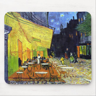 Cafe Terrace at Night by Vincent van Gogh 1888 Mouse Pad