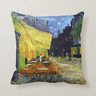 Cafe Terrace at Night by Vincent van Gogh 1888 Pillow