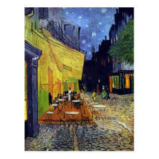 Cafe Terrace at Night by Vincent van Gogh 1888 Postcard