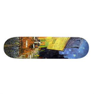 Cafe Terrace At Night By Vincent Van Gogh 1888 Skateboard Deck at Zazzle