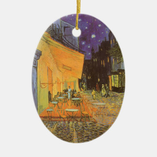 Cafe Terrace at Night by Vincent van Gogh Ceramic Ornament