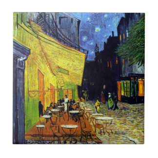 Cafe Terrace at Night by Vincent Van Gogh Ceramic Tile