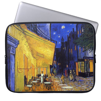 Cafe Terrace at Night by Vincent van Gogh Computer Sleeve