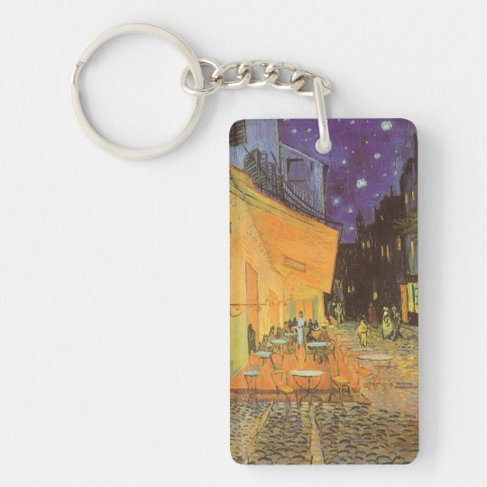 Cafe Terrace at Night by Vincent van Gogh Keychain