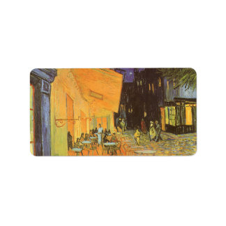 Cafe Terrace at Night by Vincent van Gogh Label