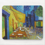 Cafe Terrace At Night by Vincent Van Gogh Mouse Pads