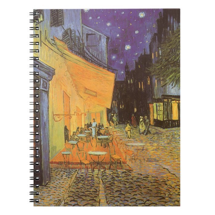 Cafe Terrace at Night by Vincent van Gogh Notebook
