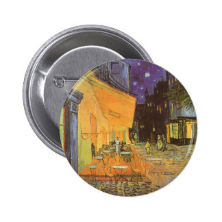 Cafe Terrace at Night by Vincent van Gogh Pinback Button