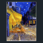 """Cafe Terrace at Night by Vincent van Gogh Postcard<br><div class=""""desc"""">A postcard with the Post-Impressionist oil painting by Vincent van Gogh (1853-1890),  Cafe Terrace at Night (1888). Created in Arles,  France in front of a popular coffee house on the Rue Du Palais.</div>"""