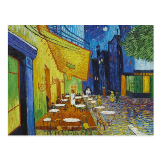 Cafe Terrace At Night by Vincent Van Gogh Post Card