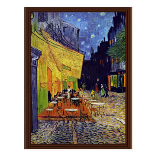Cafe Terrace At Night,  By Vincent Van Gogh Postcard