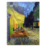 Cafe Terrace at Night by Vincent Van Gogh Spiral Notebook