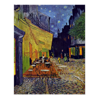 Cafe Terrace at Night by Vincent Willem van Gogh Poster